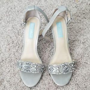 Shoes - Crystal embellished heels for weddings events